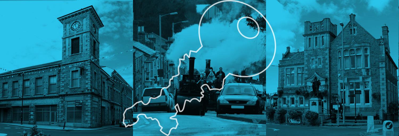 3x pics of Camborne with St Piran's Locksmiths logo embedded.