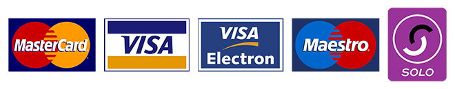 Credit Cards Accepted (MasterCard, Visa, Visa Electron, Maestro and Solo)